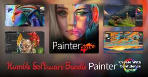 The Humble Software Bundle - u.a. mit Corel Painter® 2019 / PaintShop Pro Ultimate 2020 / Gravit Designer PRO