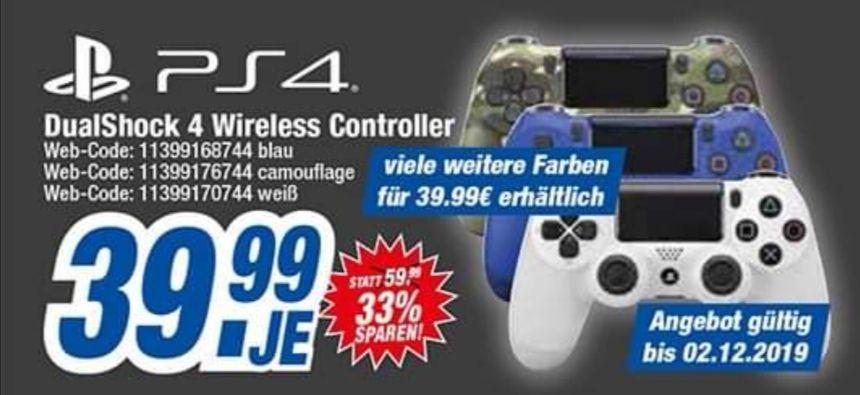 [Expert Bundesweit] Sony PS4 Controller // teilweise auch online für 39.99!