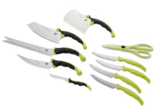 Pro V Contour Messerset 10tlg, grün-anthrazit - 04132 für jetzt 19,95€ statt 49,99€