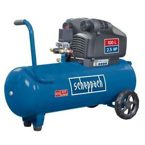 """Scheppach Doppelzylinder Druckluft-Kompressor """"HC105DC"""" (100 L, Ölfrei, 10 Bar, 2.5 PS, Ansaugleistung 322 L/min) [Maschinenwelt@Ebay]"""