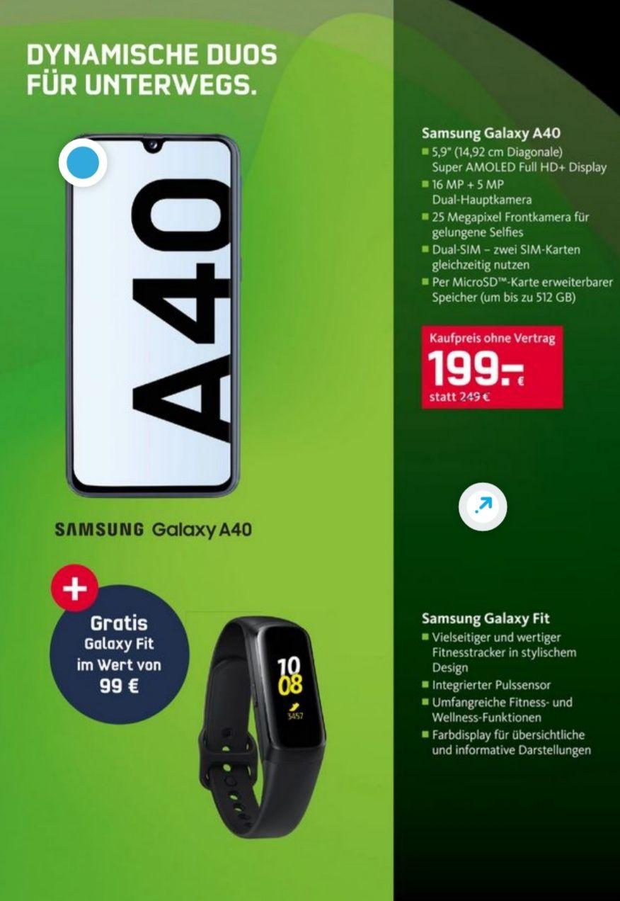 Samsung Galaxy A40 und Galaxy Fit 199€ | S10 und Galaxy Buds 649€ | Huawei P30 Lite und Freebuds Lite 259€
