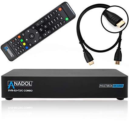 ANADOL MULTIBOX 4K UHD 2160P E2 LINUX DVB-S2 SAT & DVB-T2/C COMBO RECEIVER