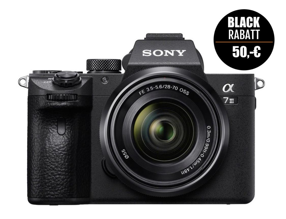 Sony Alpha 7 III (ILCE-7M3) + SEL 28-70 FE schwarz + 150,- Cashback