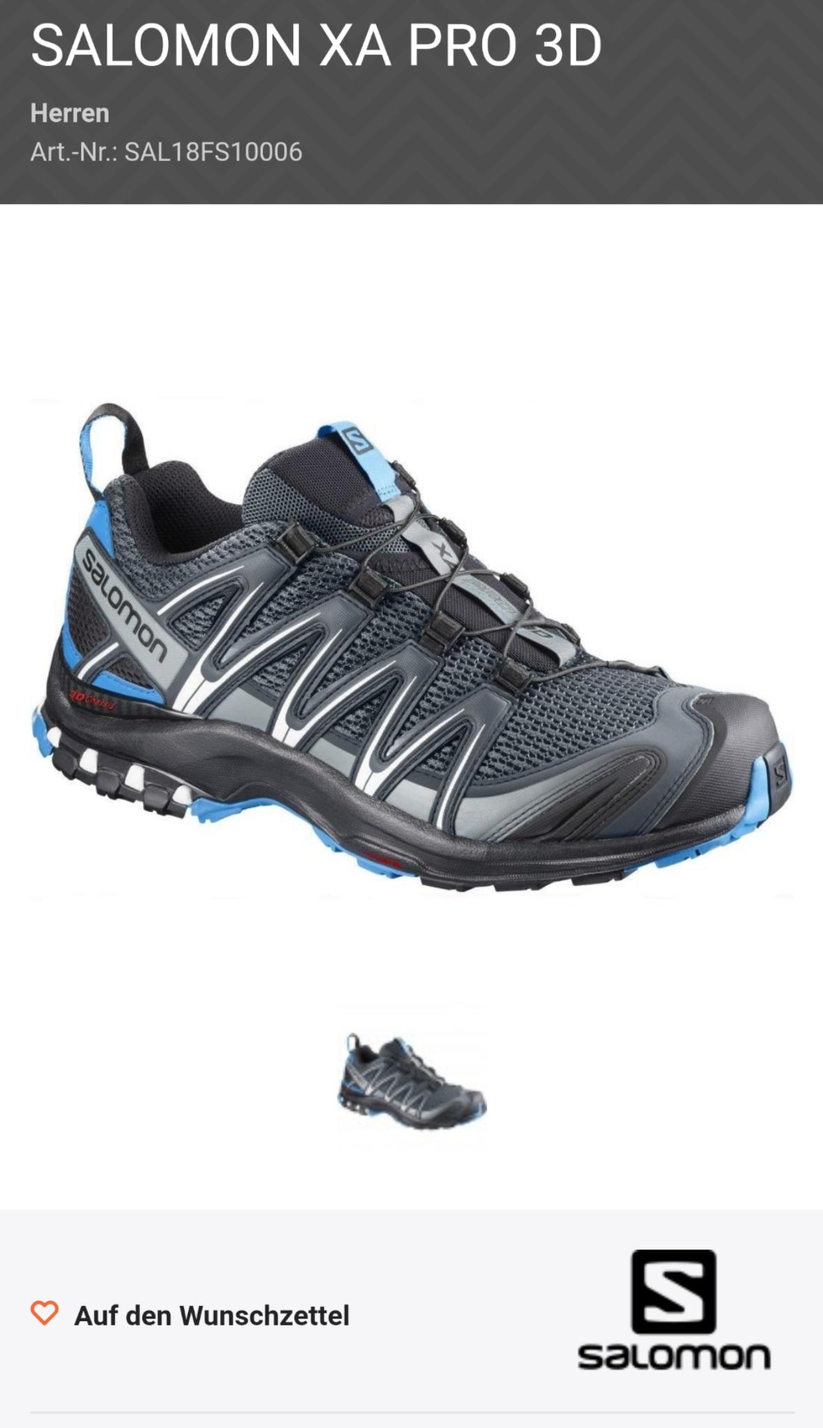 SALOMON XA PRO 3D Trial Schuhe