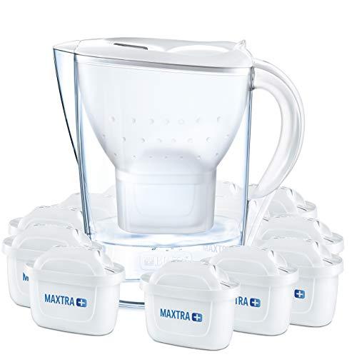 [Amazon] BRITA Wasserfilter Marella weiß inkl. 12 MAXTRA+ Filterkartuschen für € 46,99
