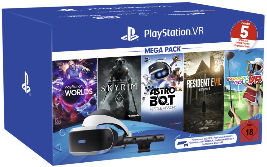 PlayStation 4 Virtual Reality Megapack - Edition 2 inkl. Skyrim, Astro Bot, VR Worlds, Resident Evil: Biohazard, Everybody´s Golf für 229€