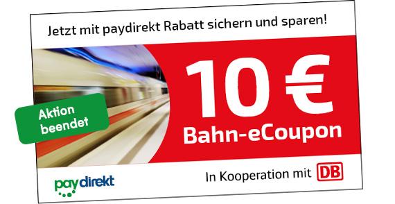 It is Wednesday my Dudes! 778 - 10 Euro Bahn Paydirekt Gutscheine - for free!