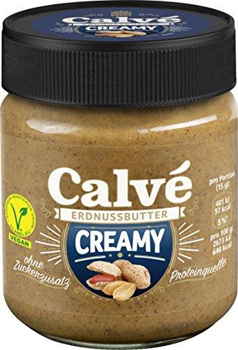4 x 210 g Calve Erdnussbutter (Creamy ohne Zuckerzusatz)
