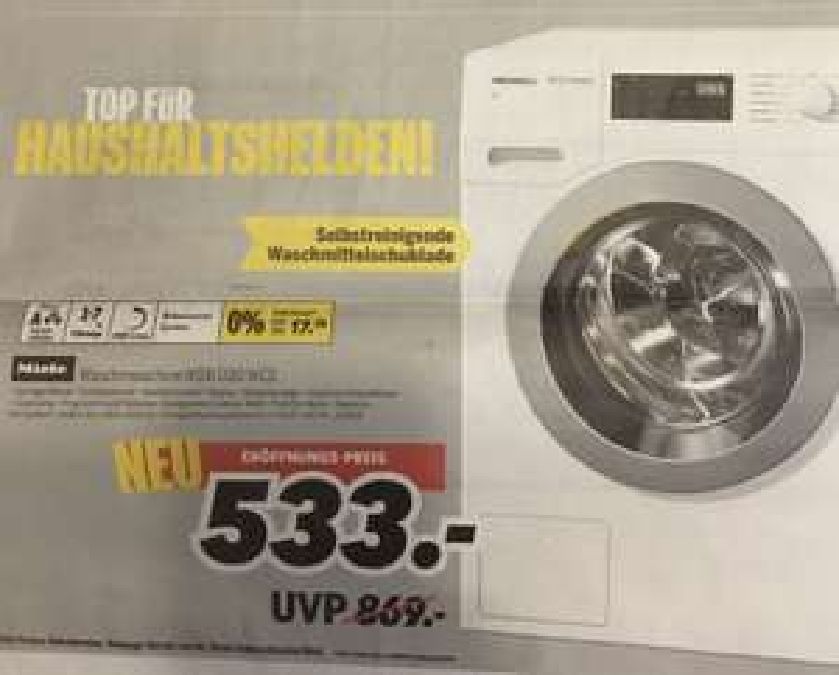 Waschmaschine Miele WDB 030 WCS A+++ 7Kg Lokal im Medimax Strausberg