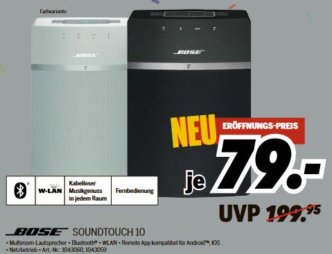 [lokal: Medimax Strausberg ab 28.11.] Bose Soundtouch 10 =79€ | PS4 Slim 1TB + 2. Controller = 222€ | Dyson V7 = 177€ | AVM 1750 = 49€ | uvm