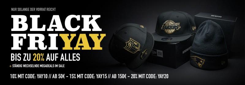 Black Friyay bei Topperz, 10-20% Rabatt auf US-Sport Merchandise z.B. NFL, NBA, MLB Caps