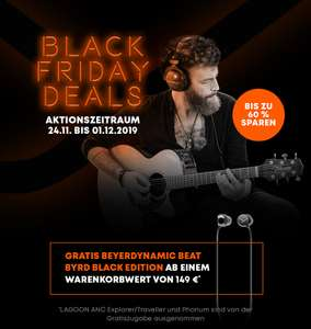 Beyerdynamic Black Friday Deals | ab 149€ Warenwert kostenlose Beat Byrd (24,99€)