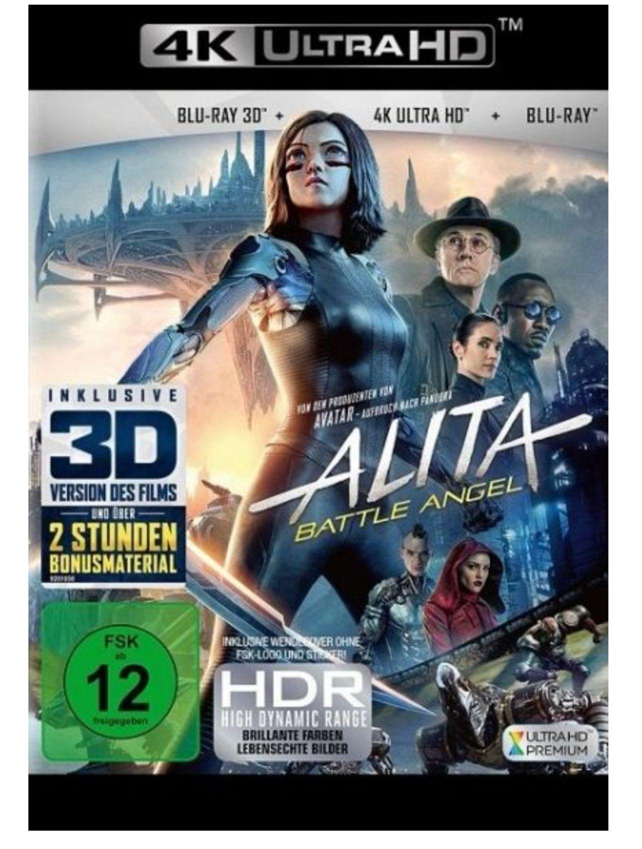 (buecher.de) Alita Battle Angel 4k + 2d + 3d