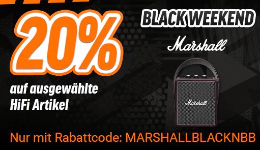 20% auf Marshall Produkte bei notebooksbilliger.de