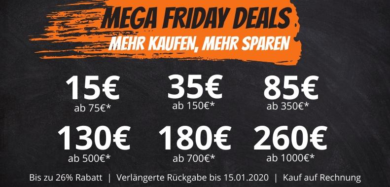 Mega Friday Sale bei Kofferworld. Bis 260€ auf fast Alles, inkl. Sale Artikel