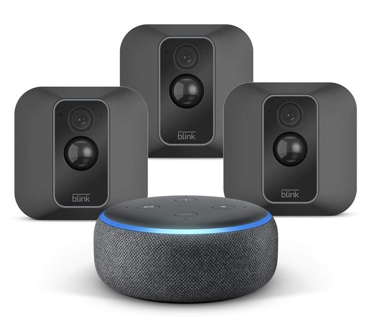 [Amazon] Blink XT2 System mit 3 Kameras + Echo Dot (3rd Gen) in Anthrazit - sofort Lieferbar