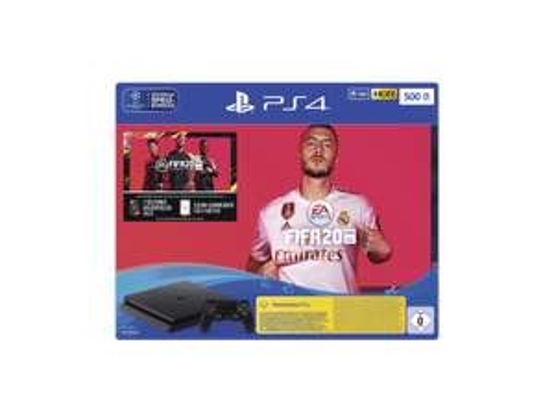 SONY Playstation 4 500GB Jet Black Slim mit Fifa 20