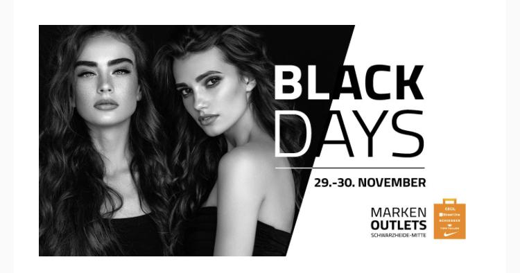 (Schwarzheide - Mitte) Black Days in den Markenoutlets