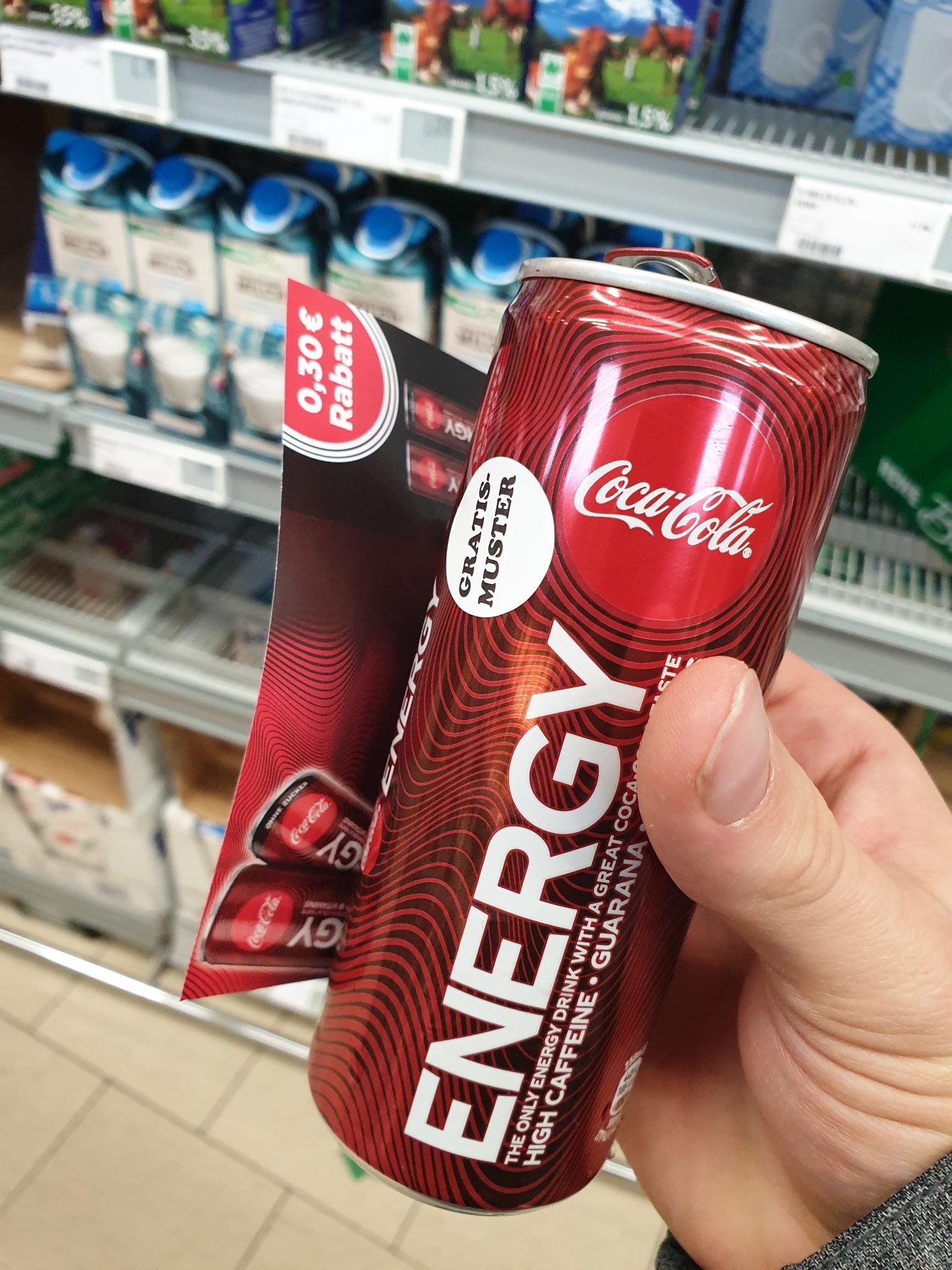 Lokal Augsburg: Gratis Coke Energy Rewe City Rathausplatz