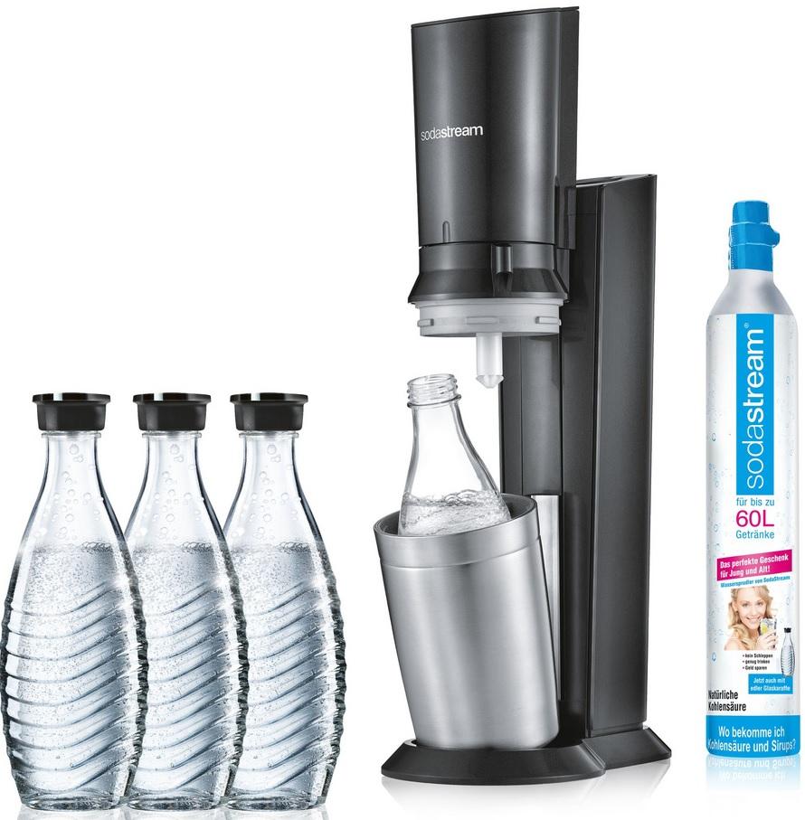 84,99€ - Sodastream crystal 2.0 + 3 Glaskaraffen - mit Rossmann Papiercoupon