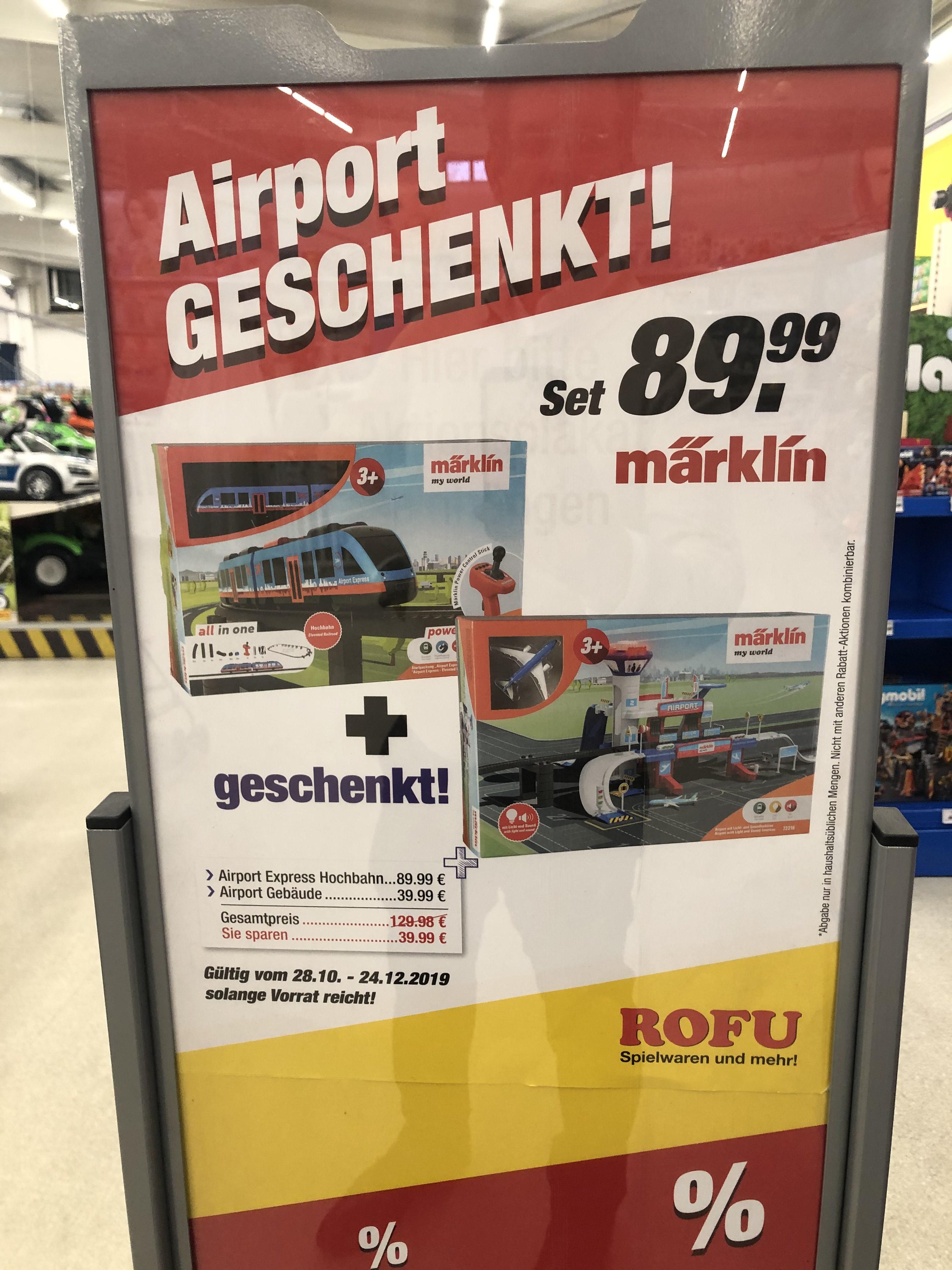 [Lokal Rofu Freiberg am Neckar] Märklin my World Airport Pack