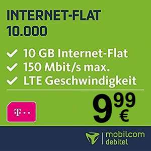 mobilcom-debitel Telekom Datentarif (10GB LTE) für eff. mtl. 9,99€ + 0€ AP + 120€ Media Markt / Saturn Coupon