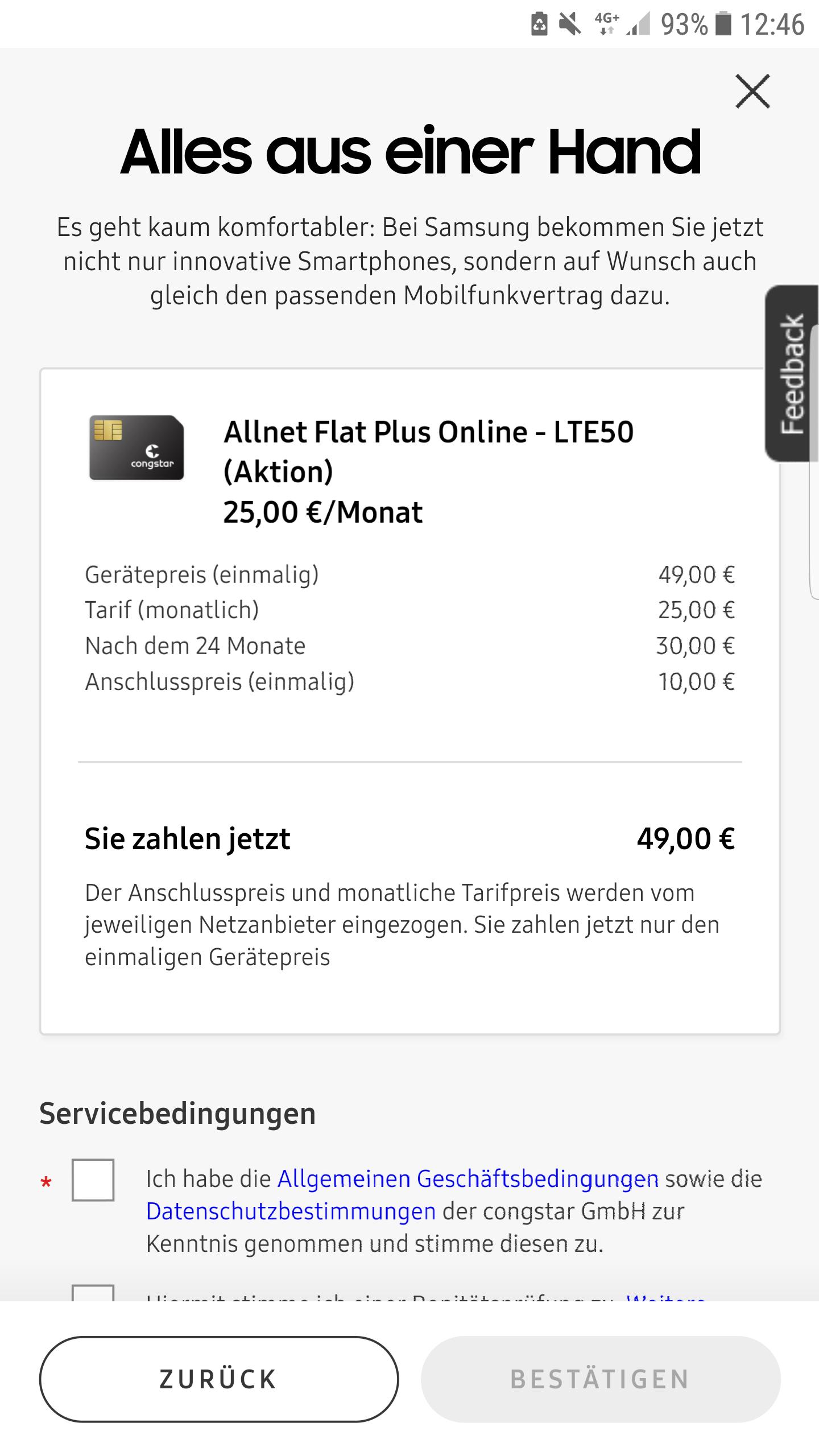 Galaxy S10 [128GB] 10GB LTE (Telekom Netz), All net flat (congstar)