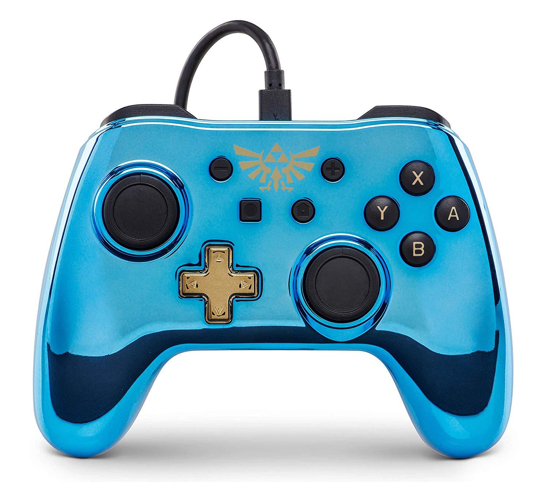 Kabelgebundener Power A-Controller für Nintendo Switch – Chrom - Legend of Zelda
