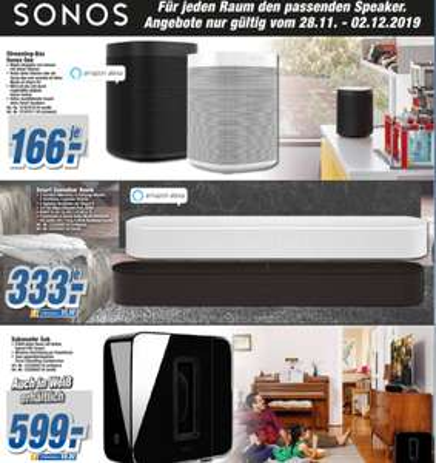 [Lokal TechnoLand Deizisau] Sonos Sammeldeal (One , Beam , Sub) / z.B Sonos One