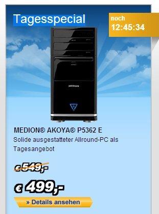 Tagesspecial MEDION AKOYA P5362 E mit 10% Geburtstagsrabatt für 457,05€ inkl. Versand
