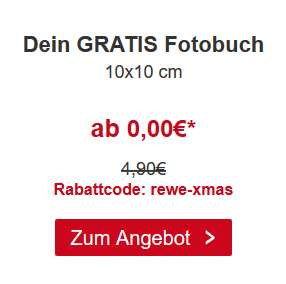 Gratis Fotobuch 10x10cm bei Rewe Foto zzgl. 6,90€ Versand