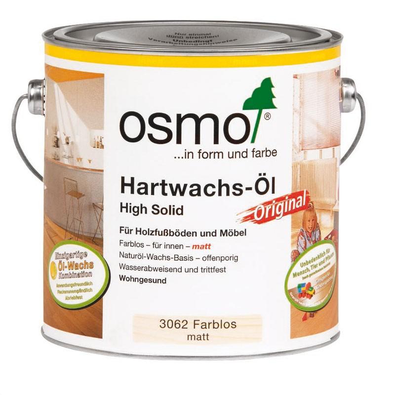 Osmo Hartwachsöl 2,50 Ltr. 3062 farblos matt / seidenmatt