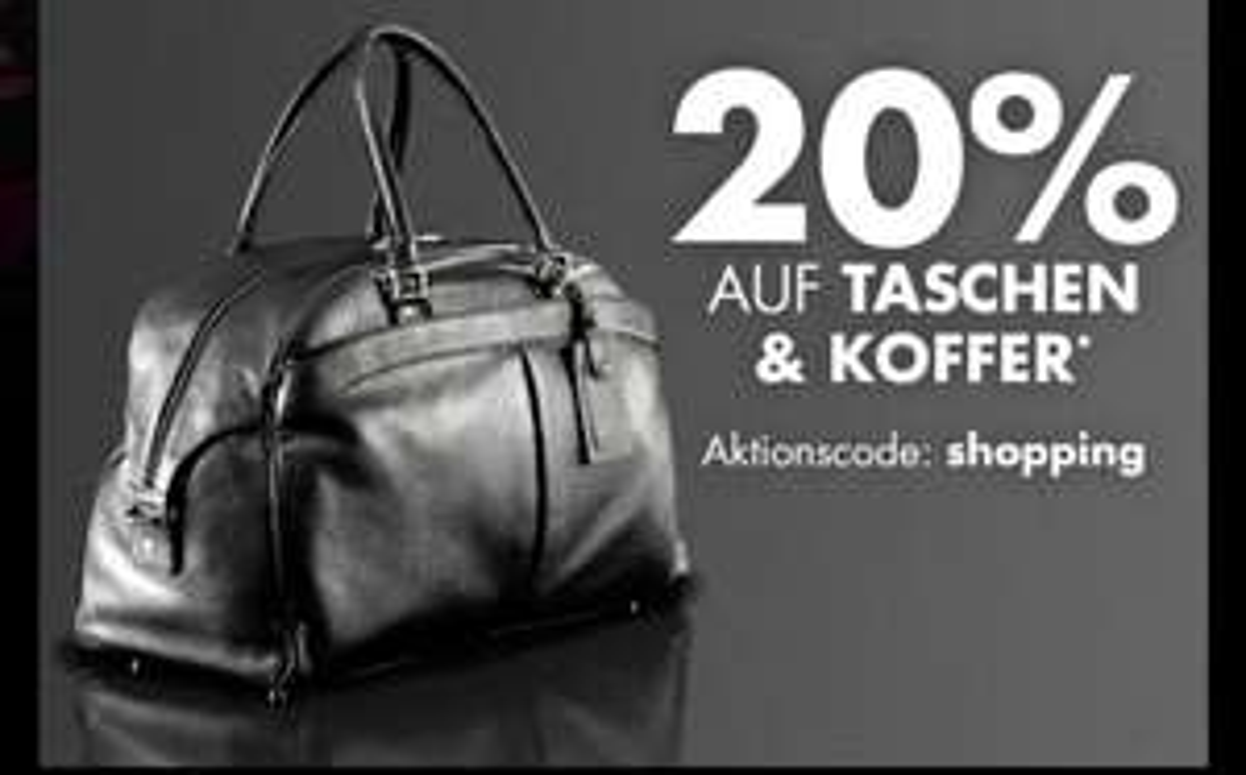 [Galeria Kaufhof / Karstadt] 20% auf alle Taschen und Koffern | nur heute | online