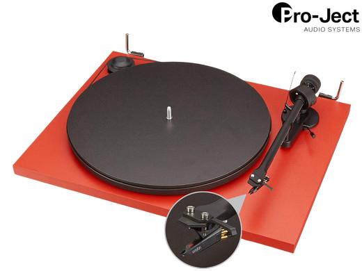 """Pro-Ject Plattenspieler mit Ortofon """"Essential II"""" (Mit Riemenantrieb, Eingebauter Vorverstärker, Ausgänge: Cinch, USB) [iBOOD]"""