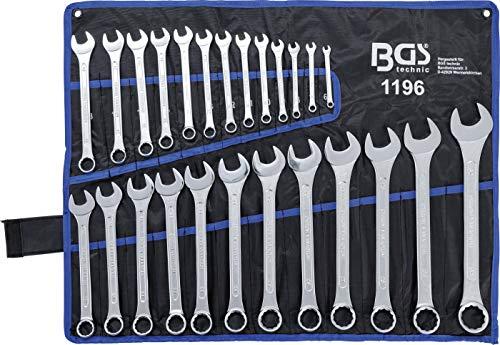 BGS 1196 | Maul-Ringschlüssel-Satz | 25-tlg. | SW 6 - 32 mm | inkl. Tetron-Rolltasche | Gabelringschlüssel