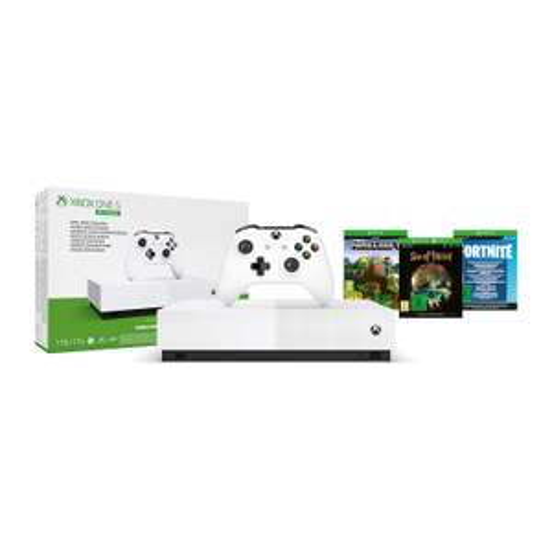 [mediamarkt.ch] Xbox One S 1TB All Digital Edition Konsole inkl. Minecraft, Sea of Thieves, Fortnite-Skin für 90€