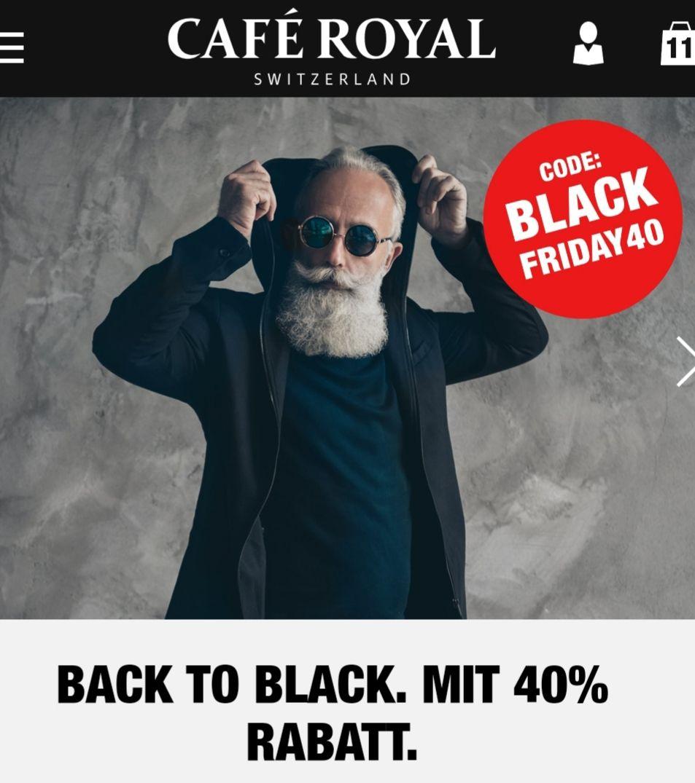 Cafe Royal 40% Gutschein - Black Friday