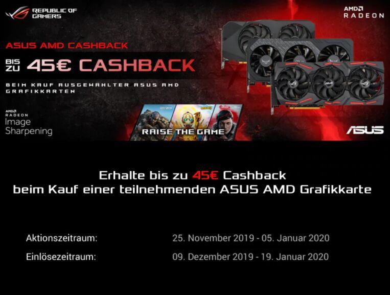 ASUS ROG Strix Radeon RX 5700 XT mit Gutschein und ASUS Cashback für 404,10