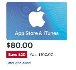 [Bestbuy.com] 100$ Itunes Guthaben für 80$ - Nischendeal