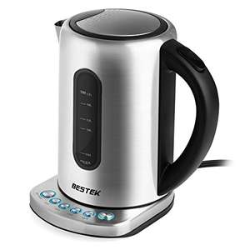 [Amazon] BESTEK Elektrischer Wasserkocher mit Temperatureinstellung, Edelstahl Wasserkocher 2200W 1.7L, für 17,99€ inkl. VSK {Prime]