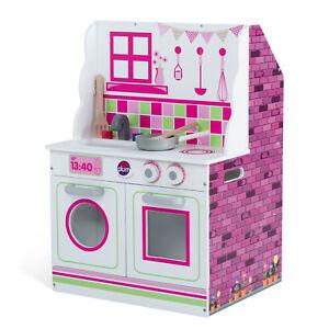 Plum® 2-in-1 Puppenhaus und Spielküche aus Holz