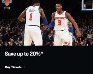 (New York) - Black Friday Sale Madison Square Garden - 20% auf NBA und NHL Tickets