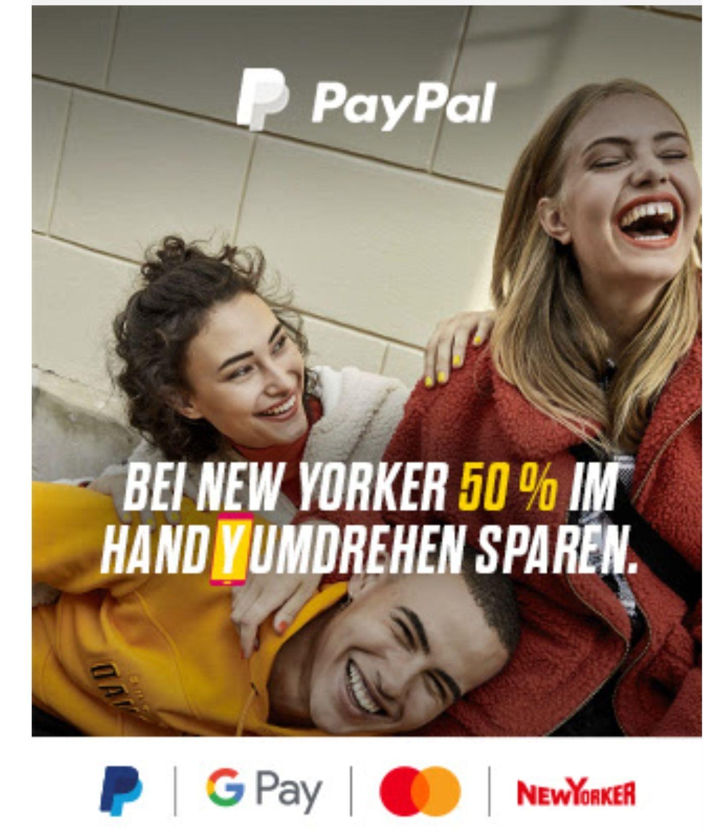 50 % Rabatt bei New Yorker mit Google Pay/Apple Pay/Garmin Pay (über Mastercard) ab 5. Dezember