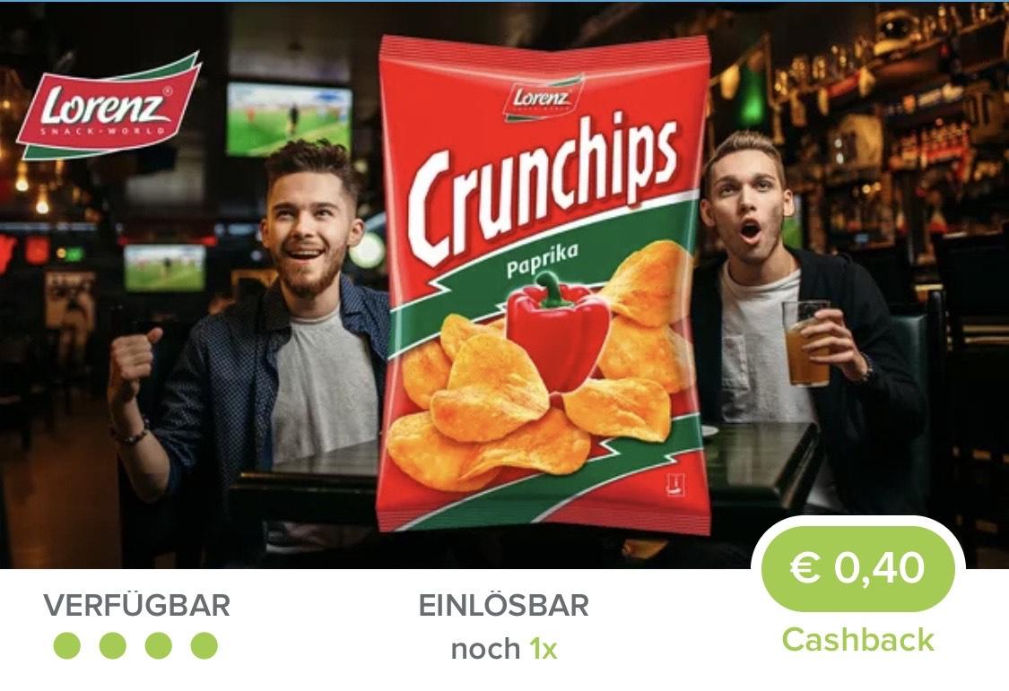 Marktguru Crunchips Cashback 0,40 Cent