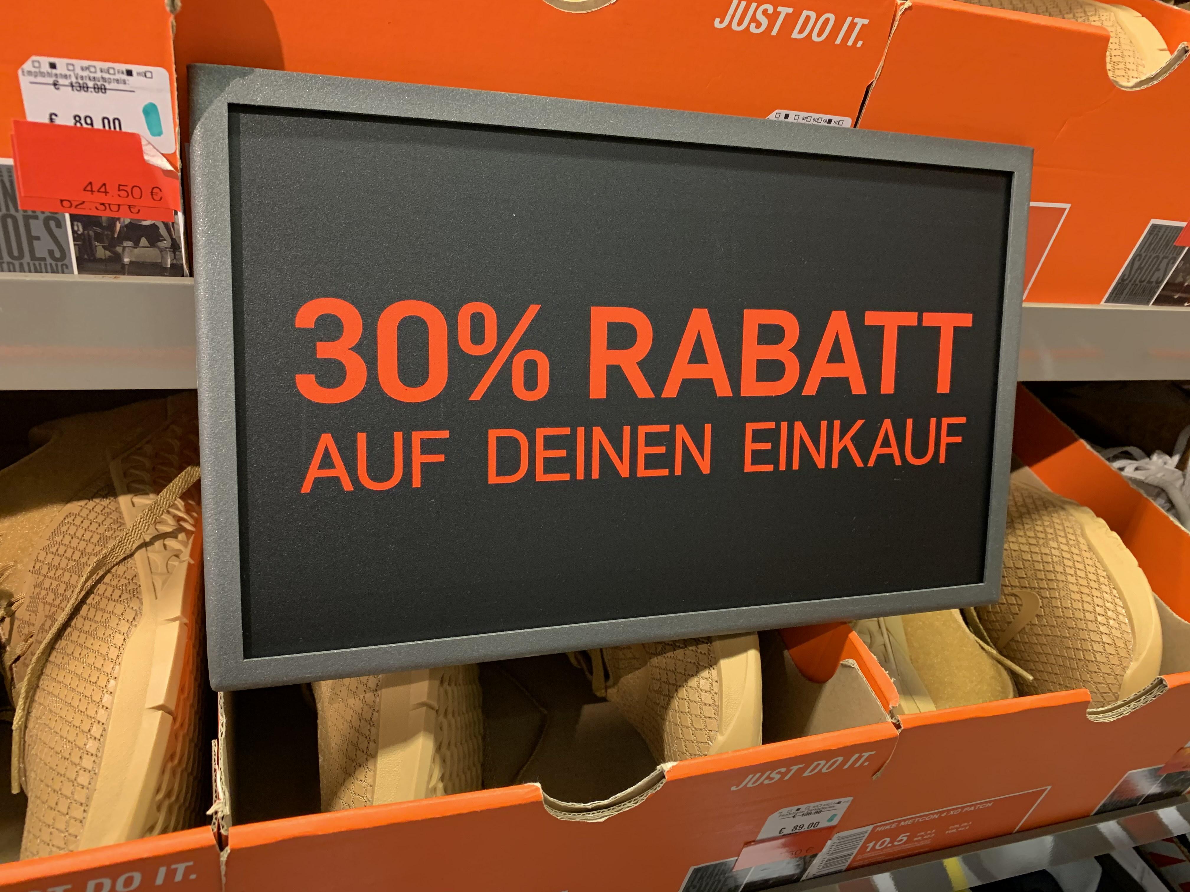 Nike Ochtrup McArthurGlen Outlet 30% auf Alles