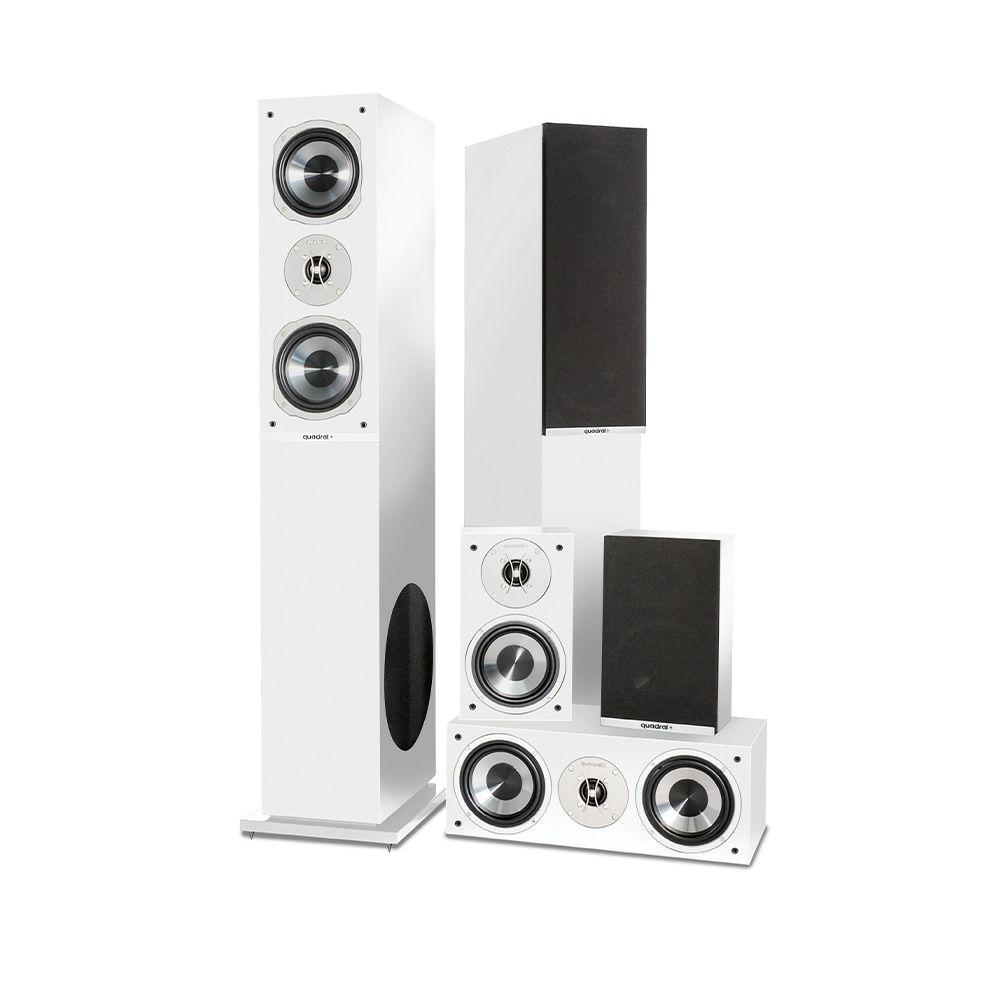 Projekt Akustik - Black Friday | z.B Quadral Argentum 6000 5.0 Lautsprecher-Set (3-Wege Stand-, 2-Wege Center- und Surroundlautsprecher)