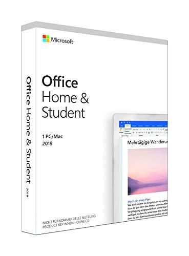 Microsoft Office 2019 Home & Student | 1 PC (Windows 10) /Mac | Dauerlizenz | Box Lizenz kein ESD