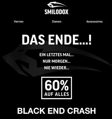 SMILODOX 60 % auf alles (MBW. 100 Euro) - ab 29.11. (08 Uhr)