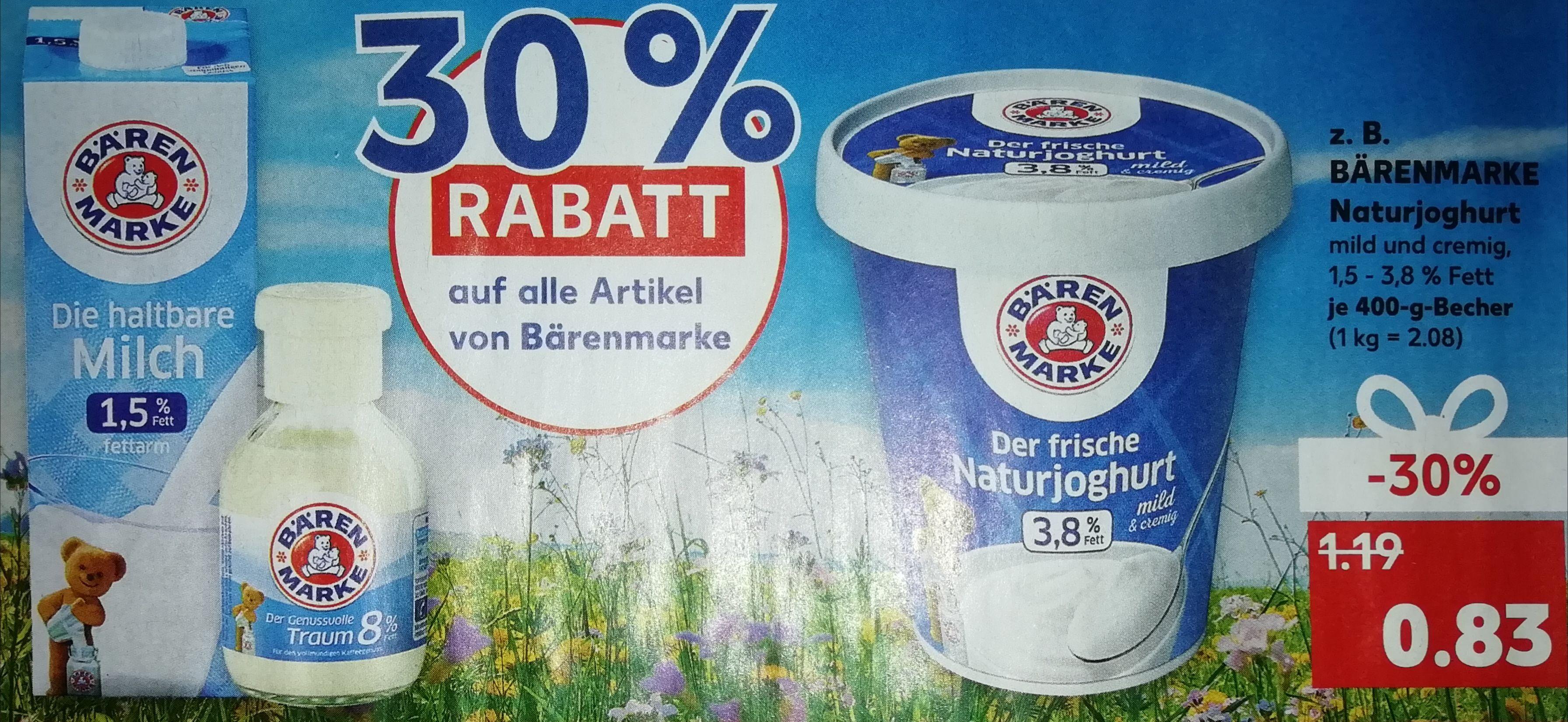 [Kaufland] 30% Rabatt auf alle Artikel von Bärenmarke