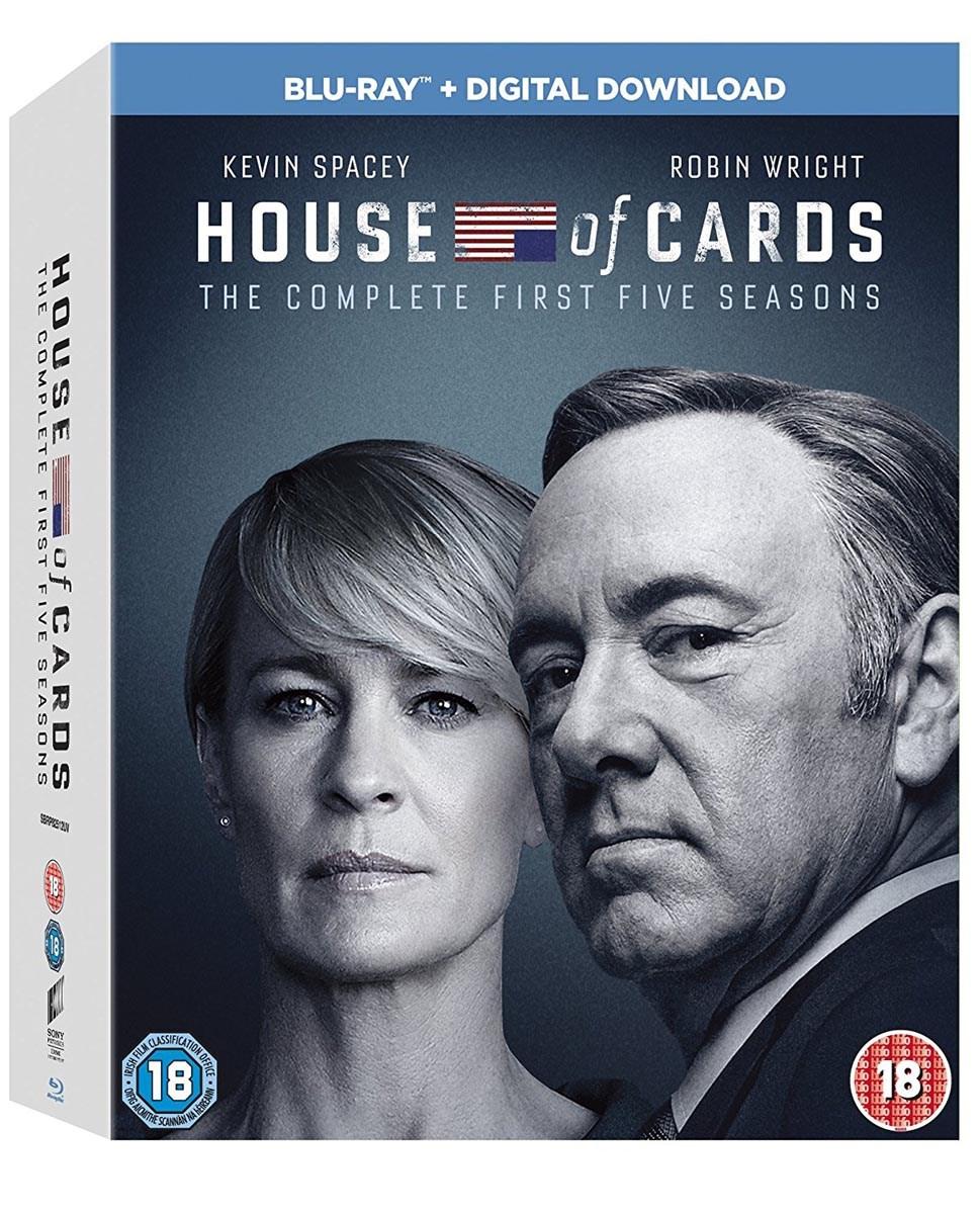 House of Cards - Staffel 1 - 5 Blu-ray (komplett auf Deutsch) für nur 17,34€ ink. Versand (Zoom UK)
